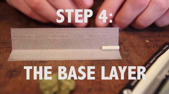 base layer to make a Spliff: paper + roach
