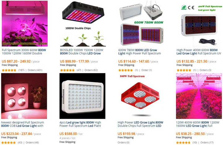 Examples Of Cheaper Led Grow Lights