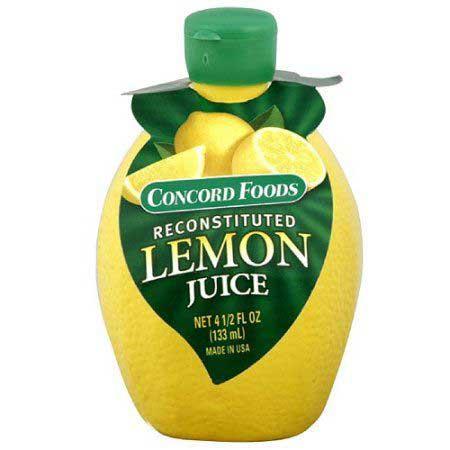 pre squeezed lemon